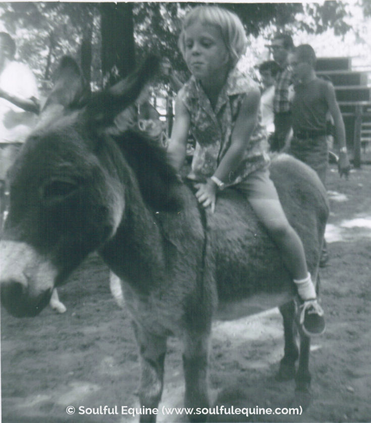 Sharon and the donkey